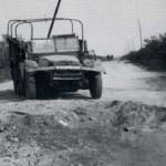 Een zwaar beschadigde Duitse auto