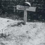 Sergeant Blokland werd aanvankelijk begraven op het 'Oude kerkhof'
